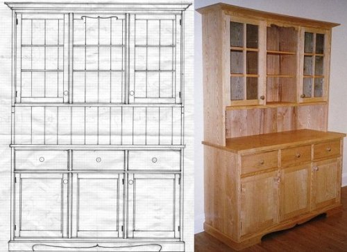 dresser unit drawing and final