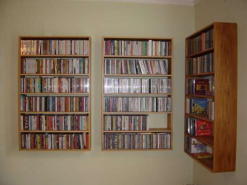 CD Or DVD Shelving Unit